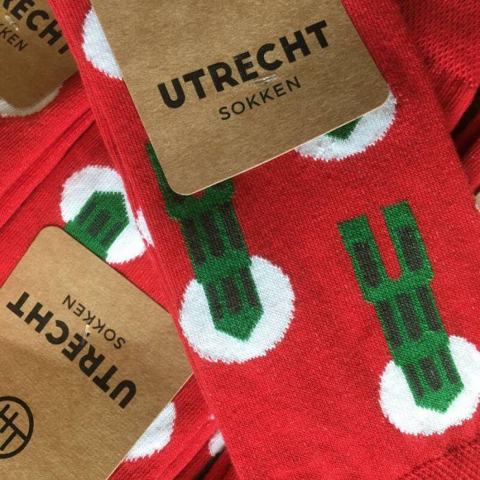 Utrechtse sokken domtorens rood 39-42