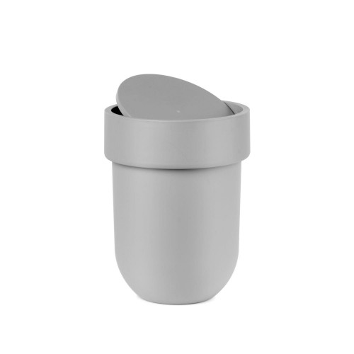 Touch can with lid grey
