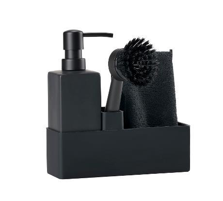 Dishwashing set black