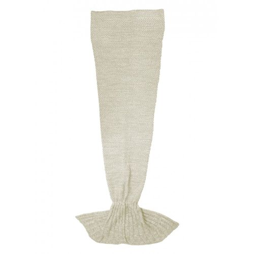 Mermaid tail blanket beige
