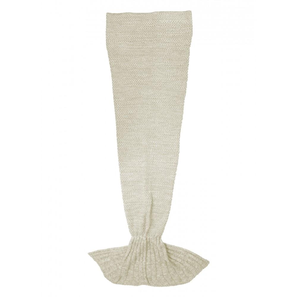 Mermaid tail blanket beige
