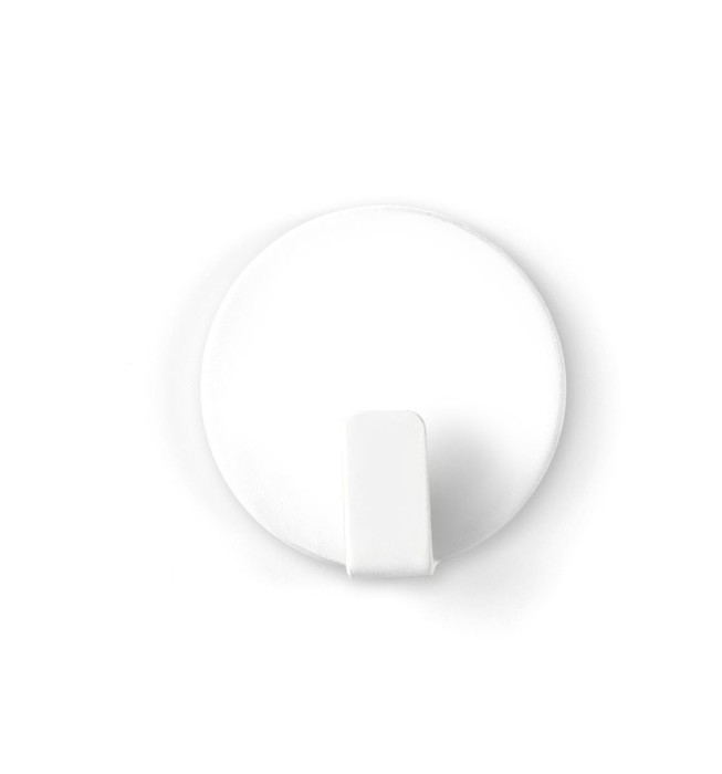 Magnetic hook solid white set of 4