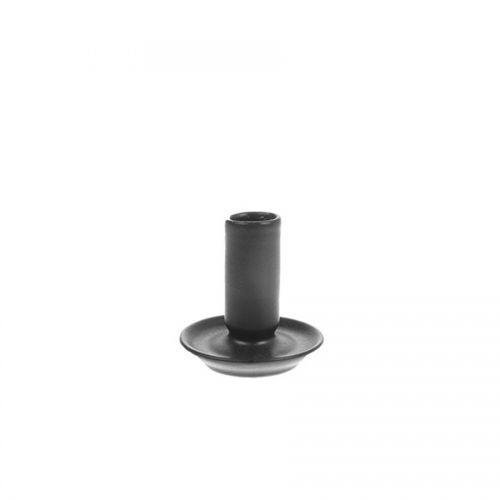 Ceramic candle holder M black