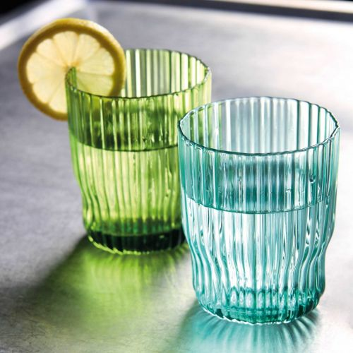 Riffle glasses set of 4 green