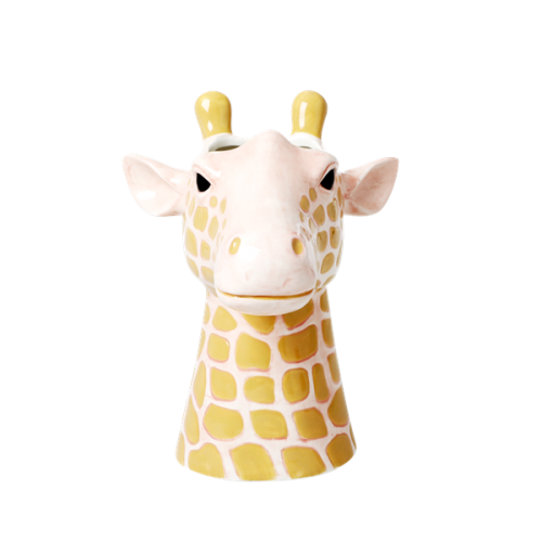 Ceramic vase giraffe head large