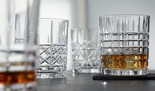 Whiskey glas set van 4 Highland