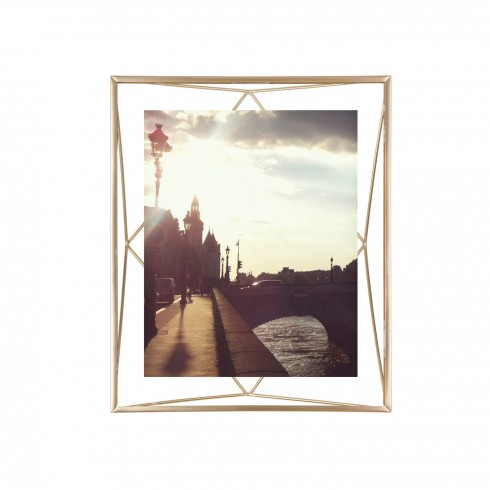 Prisma 8x10 photo display brass