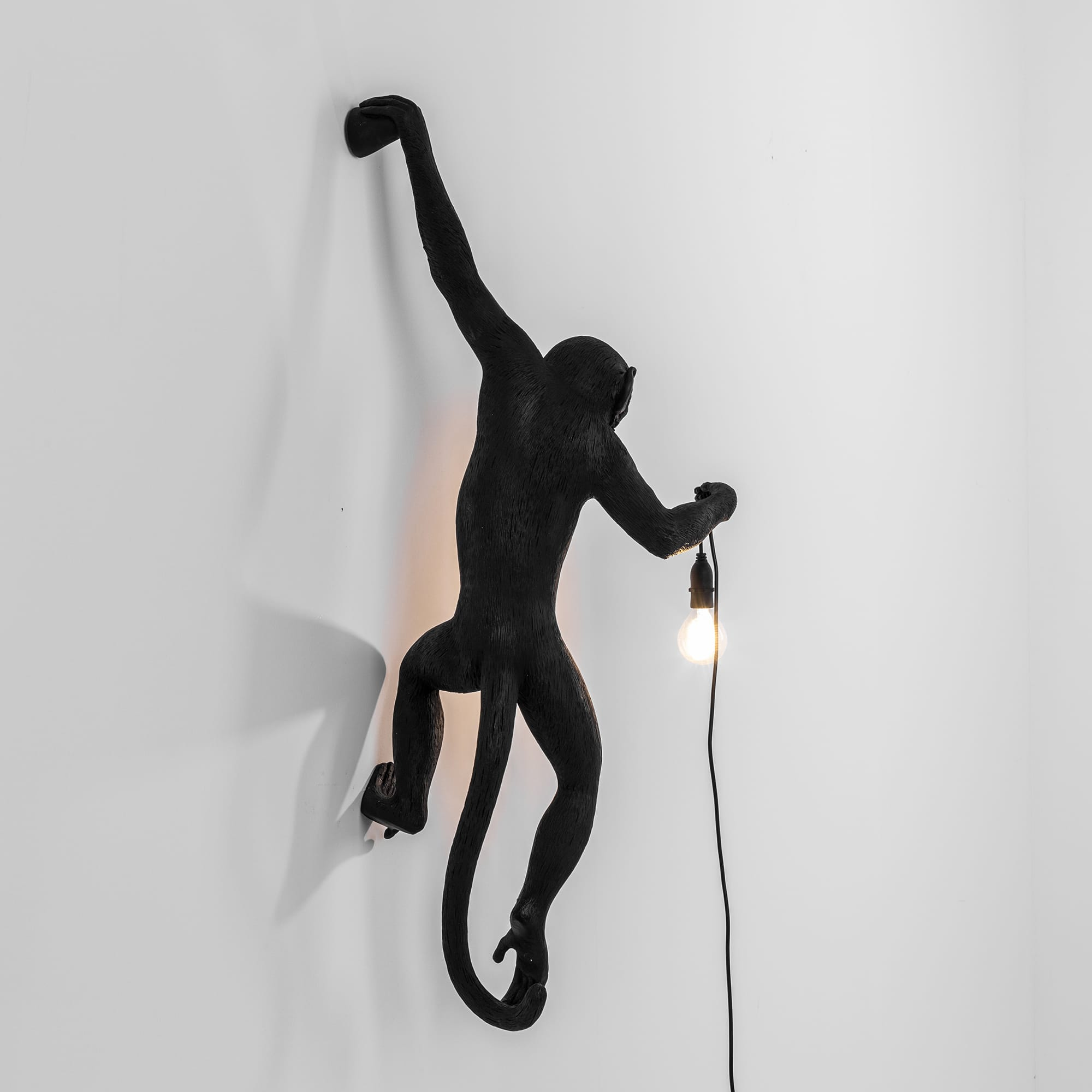 Monkey lamp hanging black