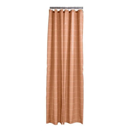 Shower curtain amber tiles