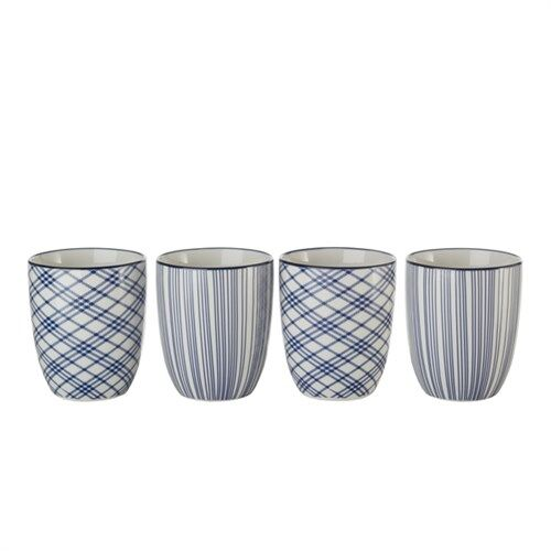 Cups check stripe set van 4