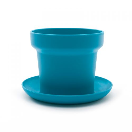 Green plant pot turquoise