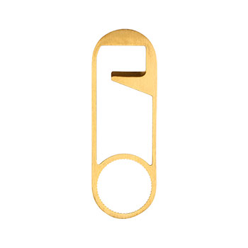 Safety pin bottle opener