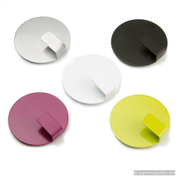 Magnetic hook solid black set of 4