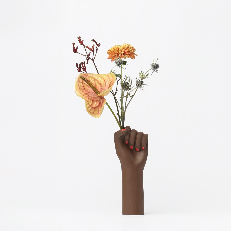 Girl power small vase black