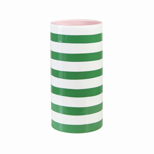 Vase stripe green