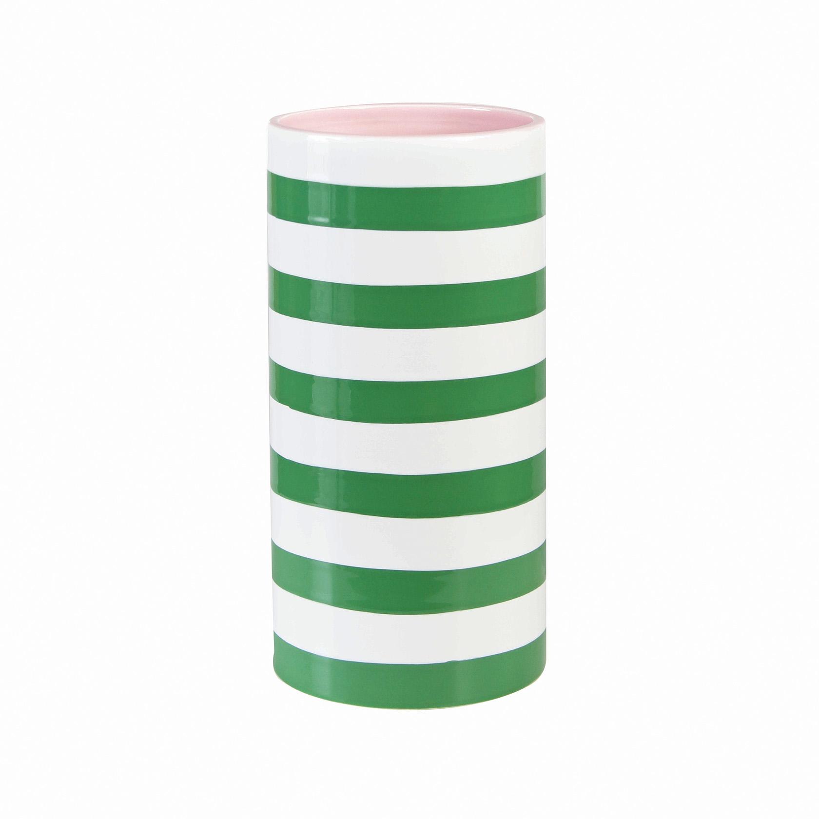 Vase stripe green