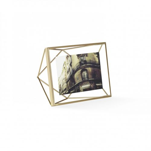 Prisma 4x6 photo display brass