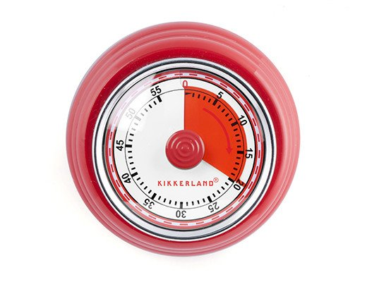 Magnetic kitchen timer red