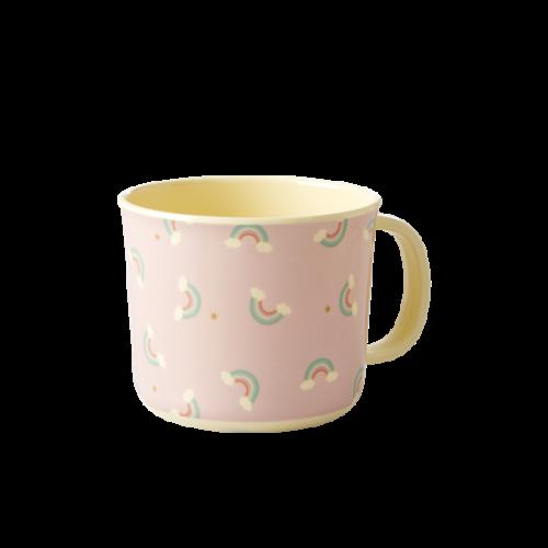 Melamine baby cup rainbow print