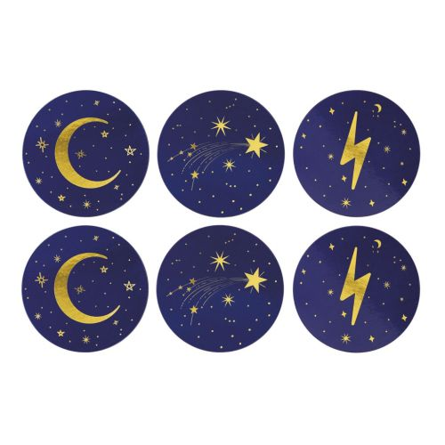 Cosmic coasters blue set of 6
