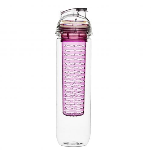 Bottle with fruit piston pink