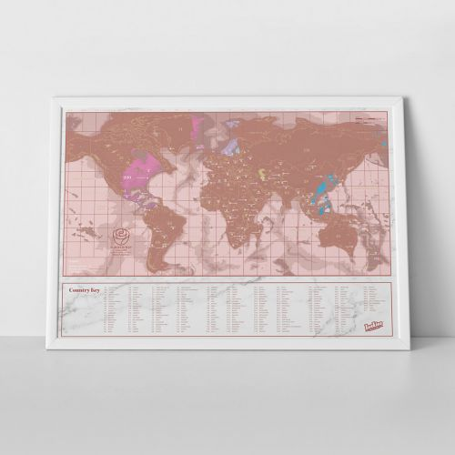 Scratch map rose gold travel edition