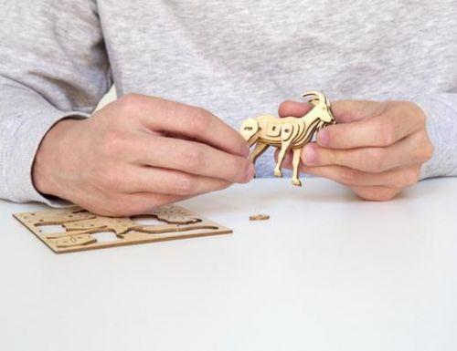 Goat 3D wooden puzzle