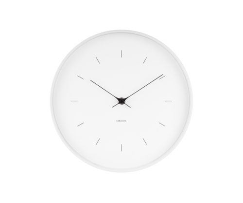 Wall clock butterfly hands white