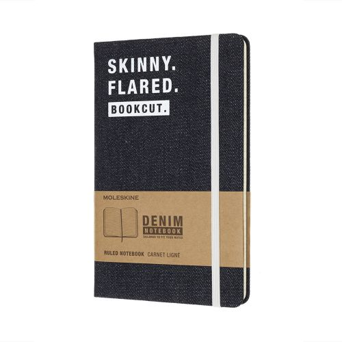 Limited edtion denim skinny large ruled notebook