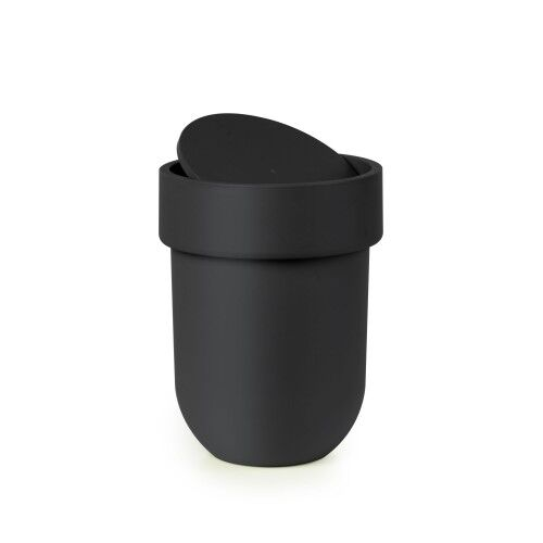 Touch can with lid black
