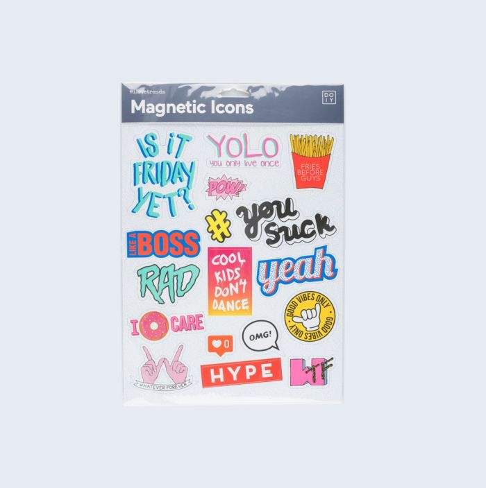 Magnetic icons blue
