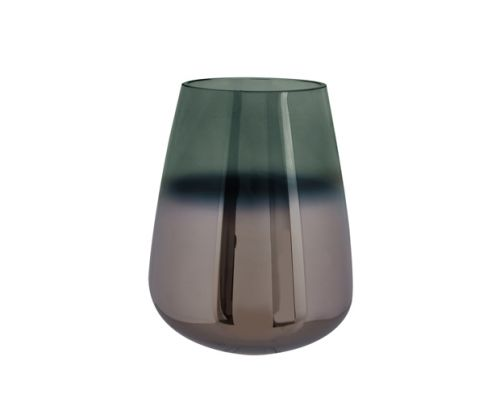 Vase oiled glass green medium