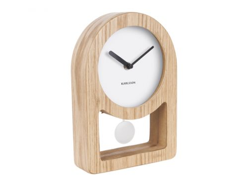 Table clock Lena Pendulum white