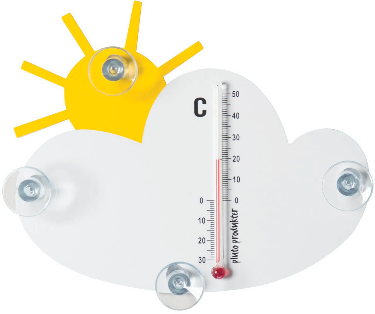 Thermometer zon & wolken