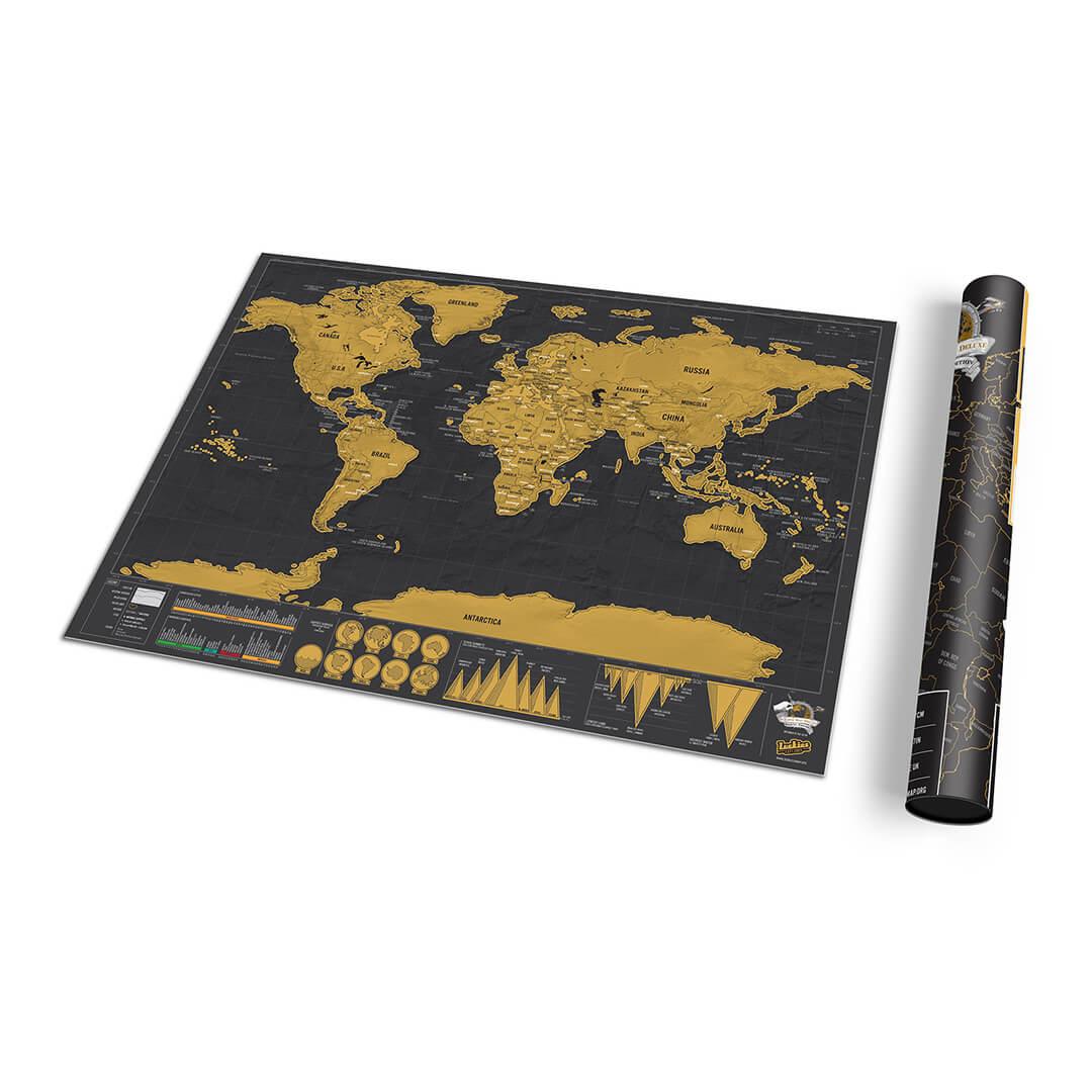 Scratch worldmap wereld deluxe travel