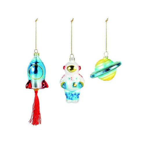 Space ornaments set of 3