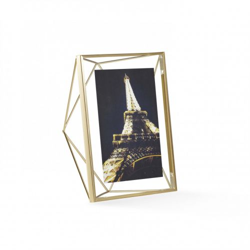 Prisma 5x7 photo dispay brass