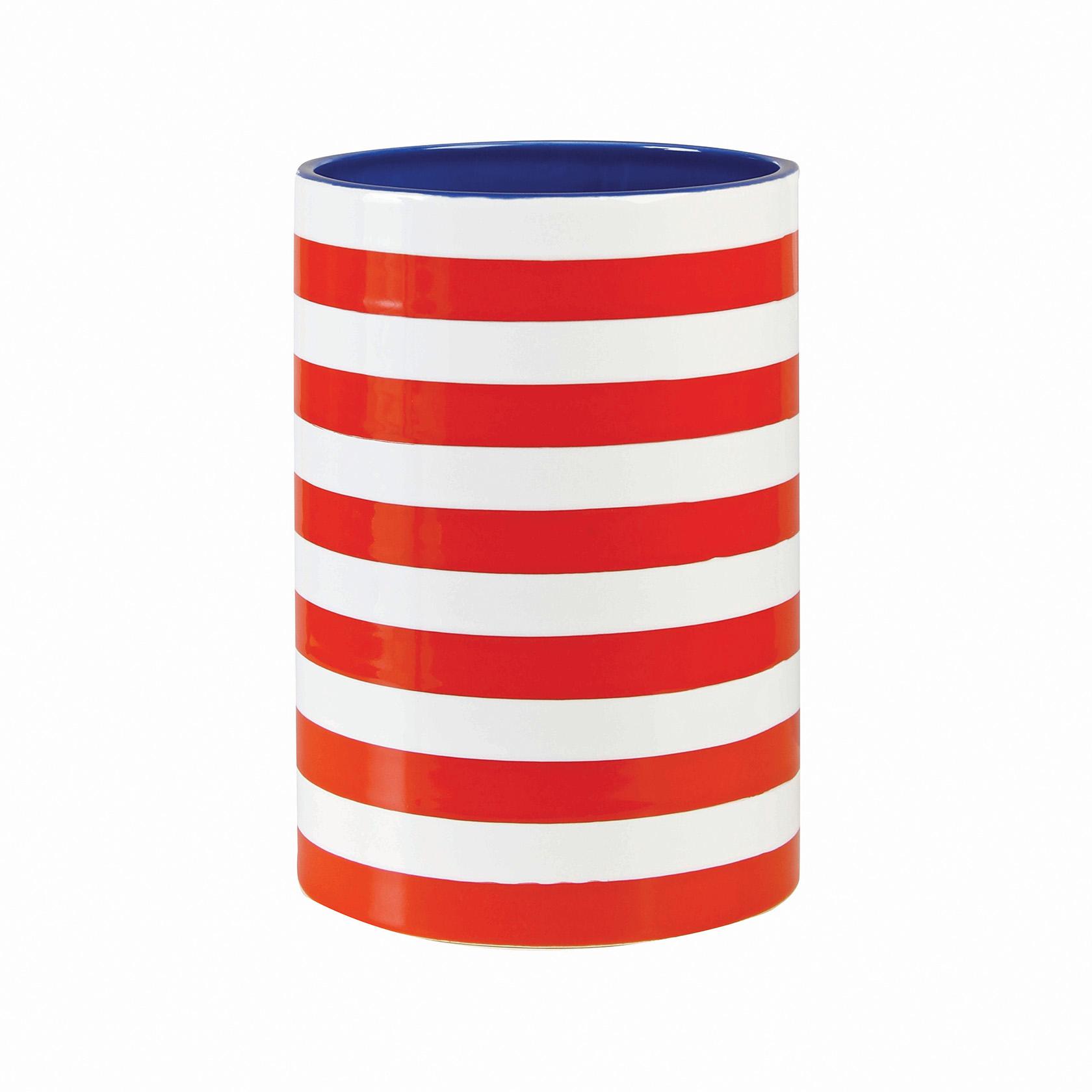 Vase stripe red
