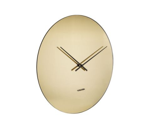 Wall clock mirage gold