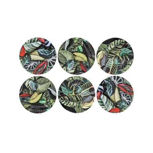 Set of 6 leaf coasters