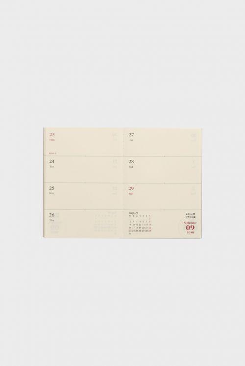Midori weekly diary 2019 passport