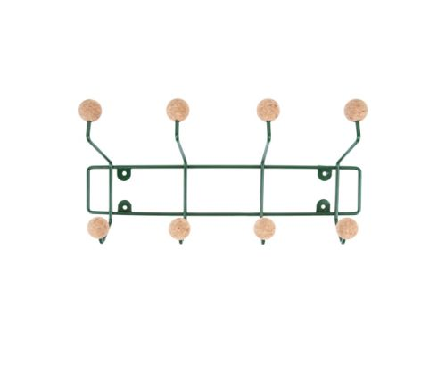 Hat rack saturnus green w. cork