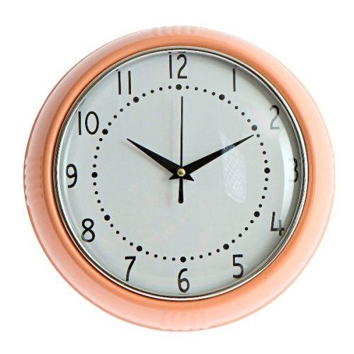 Wall clock Cocina roze