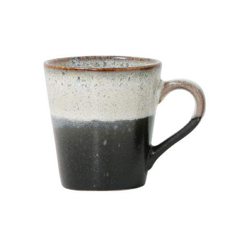 Ceramic 70's espresso mug rock