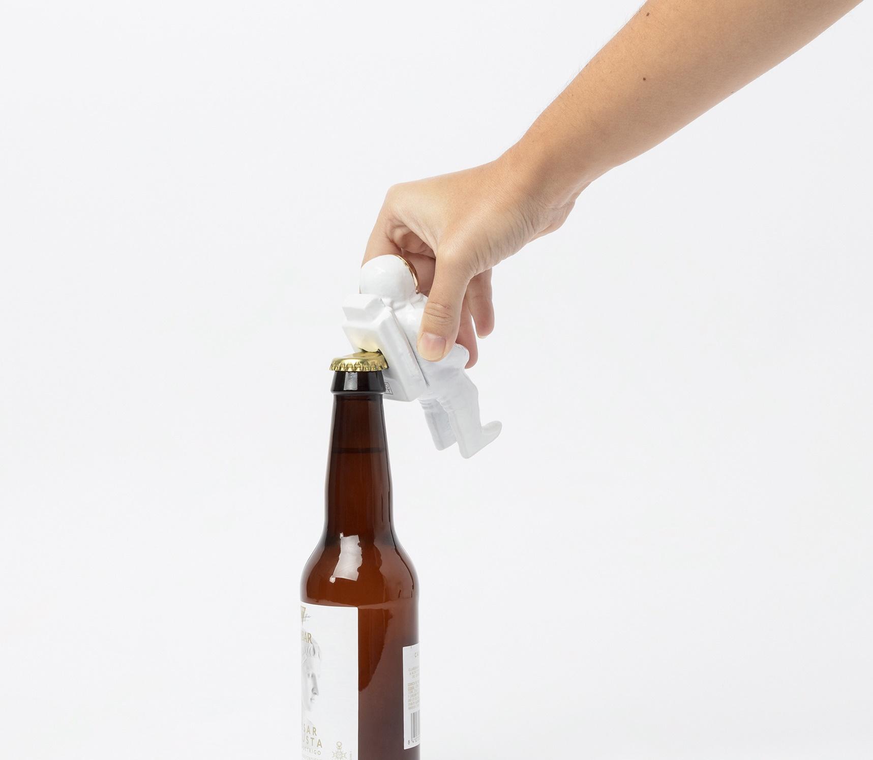 Houston bottle opener white