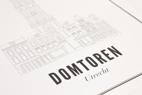 Utrecht domtoren ansichtkaart