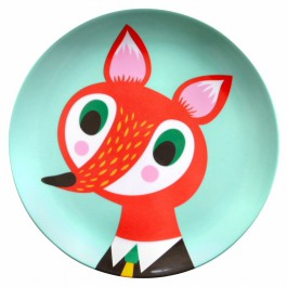 Melamine plate fox mint