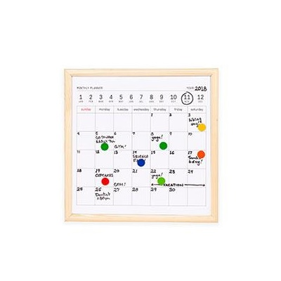 Mini white board calender