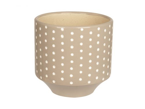 Plant pot dots warm grey L