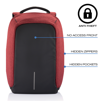 Bobby anti-theft backpack red